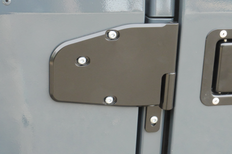 Humvee aftermarket billet aluminum hinges for factory Humvee or our aftermarket doors.
