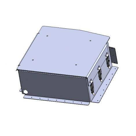 Seat base battery box enclosure